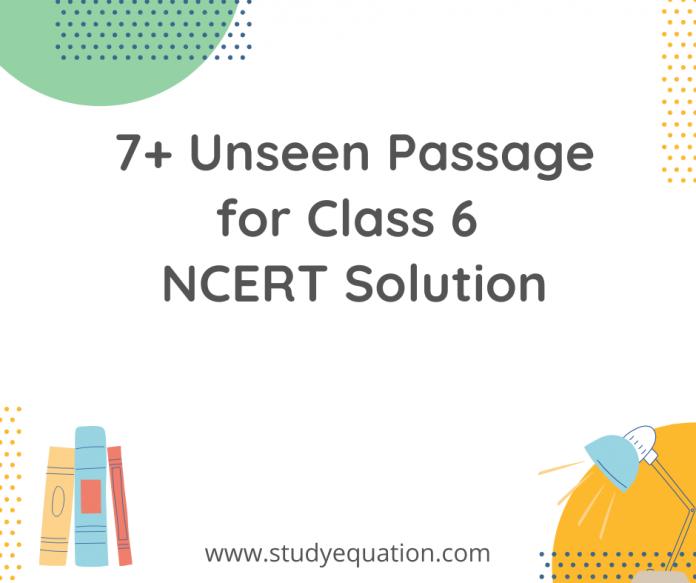7+ unseen passage for class 6 ncert solution