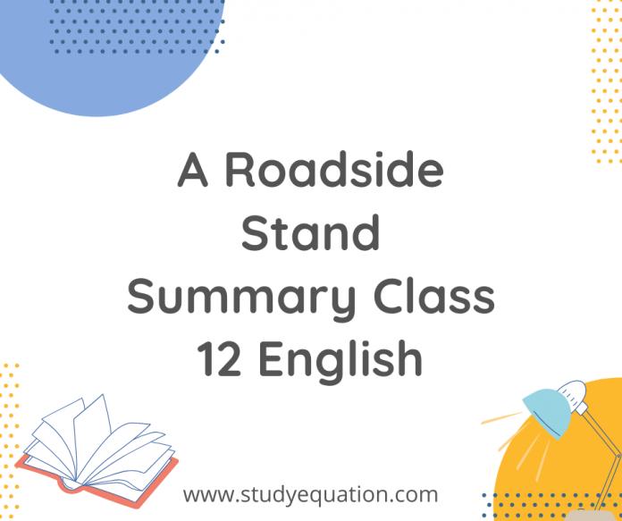 A Roadside stand summary class 12 english